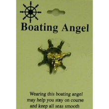 Boating Angel Pin