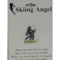 Skiing Angel Pin