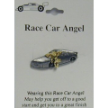 Race Car Angel Pin