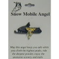 Snow Mobile Angel Pin